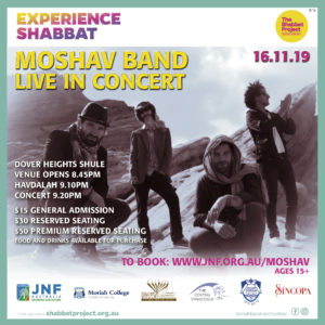 """THE MOSHAV BAND"" live in concert"